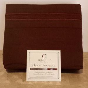 Clara Clark Deluxe Coffee Brown Full Sheet…